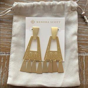 NWT! Kendra Scott Gold Statement Earrings